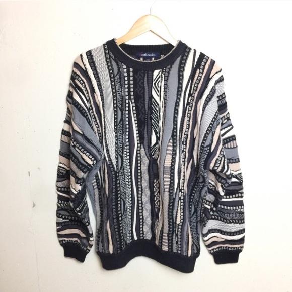 VTG Geo Biggie 90s Coogi Style Chunky Sweater